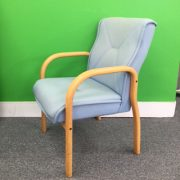 Sky blue meeting chair