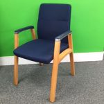 Blue Fabric Conference Chair