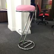 Bistro Stool Z Frame Pink Seat