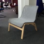 Grey mesh reception chair