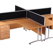 Beech radial used office desks