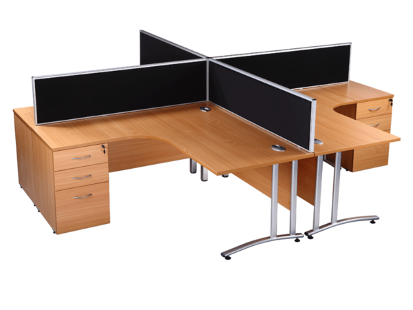 Beech radial used office desks