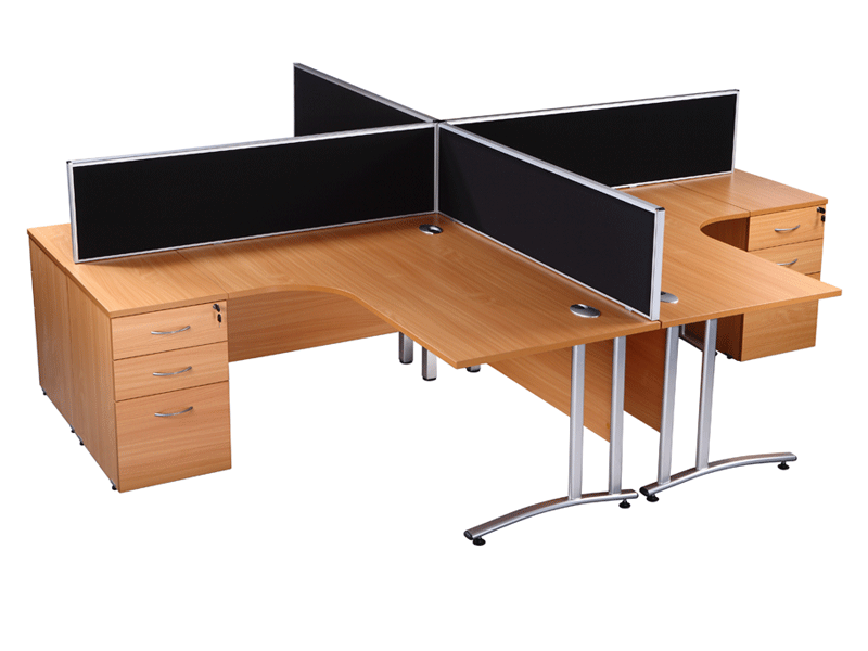 Used office desk endurance radial office desk in beech for Furniture news