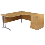 Used office desk in oak