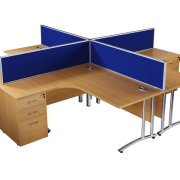 Used oak radial office desks