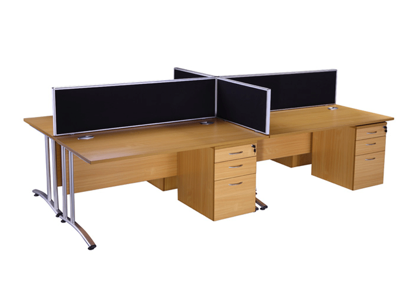 Endurance rectangle desk in beech buy used office desks for Furniture news