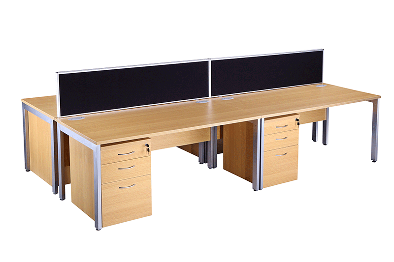 Bench Desking Beech City Used Office Furniture