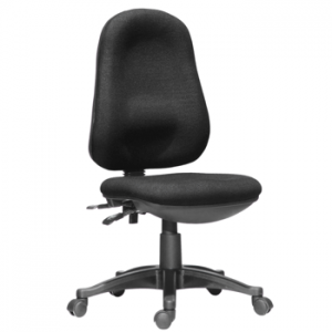 Endurance Operator / Office Chair, Adjustable, No Arms - Black/Blue (new)