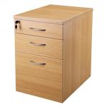 New Endurance MFC Office Pedestal, 3 Drawer, Under Desk, Lockable, Light Oak / Beech.