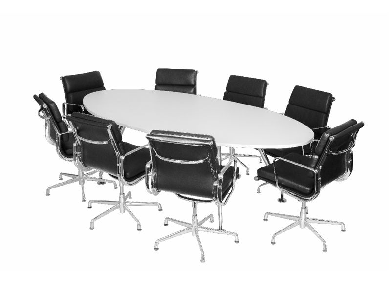 Used Desk For Sale >> Oval Office Conference / Boardroom Table - White (new) - City Used Office Furniture