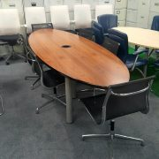 Walnut Conference Table And 8 Chairs