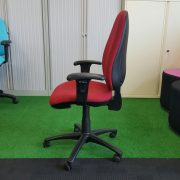 Red Operators Chair With Arms