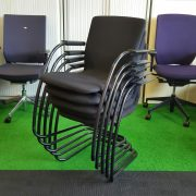 Orangebox Cantilever black stackable visitor chairs