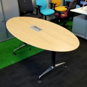 Oak Oval Conference Table