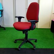 Operators Chair Medium Back Red Fabric