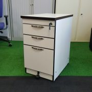 Desk High Pedestal White