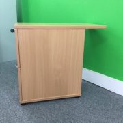 Side Beech Desk High 2 Drawer Pedestal