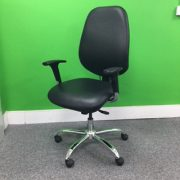 Brown Leather Operators Chair