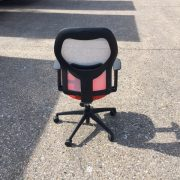 Mesh back chair red seat