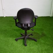 Black Operator Chair Back View