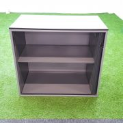 Ahrend Silver Desk High Tambour Cupboard