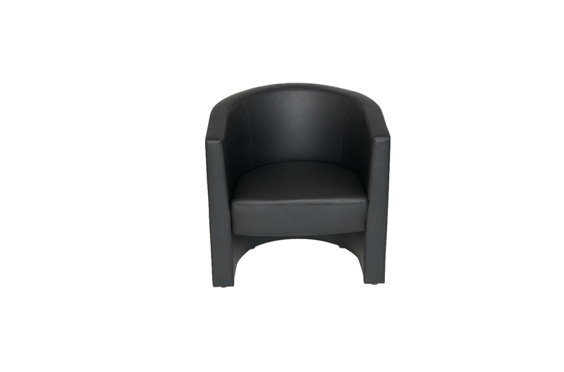 Magnificent Black Faux Leather Tub Chair For Office Reception Area New Machost Co Dining Chair Design Ideas Machostcouk