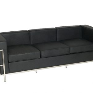 Corbusier style reception 3 seat sofa