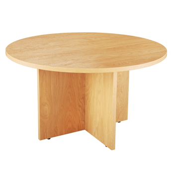 Endurance Circular Meeting Tables in Light Oak