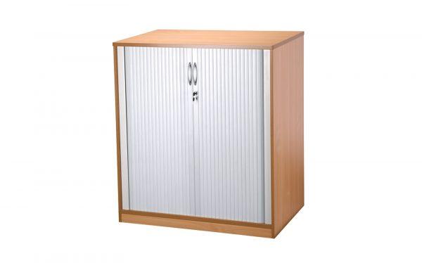 Light Oak Tambour Cabinet