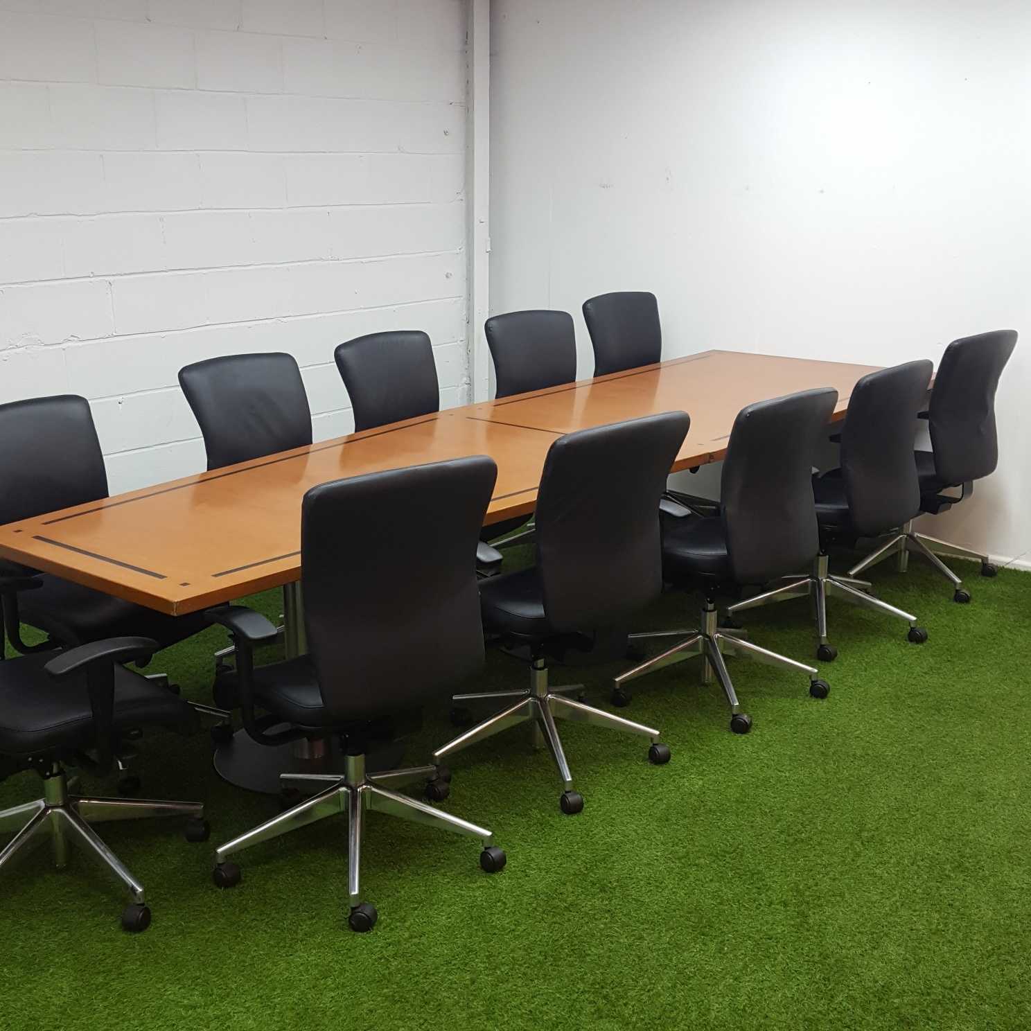 Boardroom Furniture For Sale: Angled Conference Table In Cherry