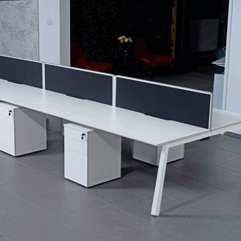 White Bench Desks