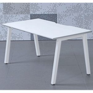 Single White Bench Desk