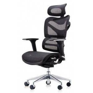 New Executive Office Chair, Mesh, Fully Adjustable, With Arms & Headrest