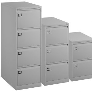 Bisley Metal Filing Cabinet, 2 / 3 / 4 Drawer, Lockable, 10 Colours (new)