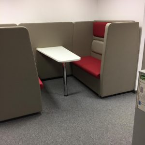 MDK Btogether High Back Upholstered 4 Seater Booth With Table (new)