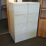 Metal 4 Drawer Lockable Office Filing Cabinet H1320 x W640 x D620mm