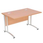 Endurance Rectangular Office Desk - Various Sizes - Light Oak/Beech (New)