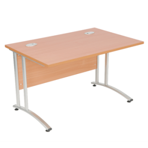 Endurance Rectangular Office Desk - Various Sizes - Light Oak/Beech (New)