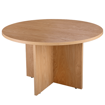 Used Oak round meeting table