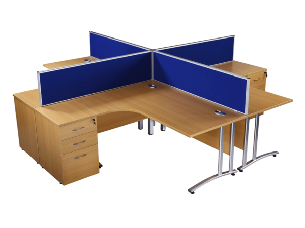 Used oak radial office desks