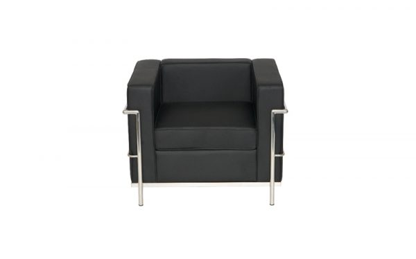 Corbusier style reception armchiar front
