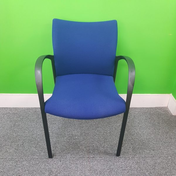 Used Senator Designer Stackable Office / Meeting Chair, Modern, Blue