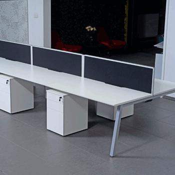 Back to back bench desk add on