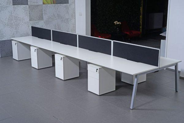 back to back bench desks