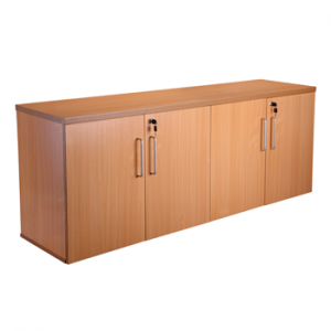 Endurance Office Credenza / Sideboard Cupboard - Beech/Light Oak (new)