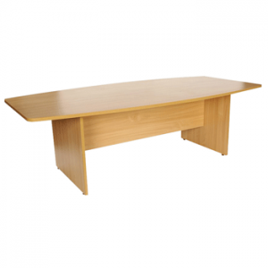 Beech Endurance Slab Ended Boardroom Table