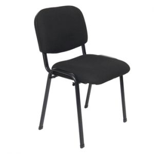 Black stacking chair