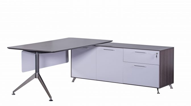 Naples Modern Executive Corner Office Desk with Return (new)