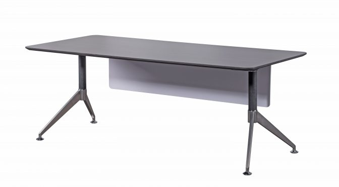 Naples Straight Designer Executive Office Desk, Anthracite & White, Modern (new)