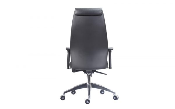 executive faux leather chair back